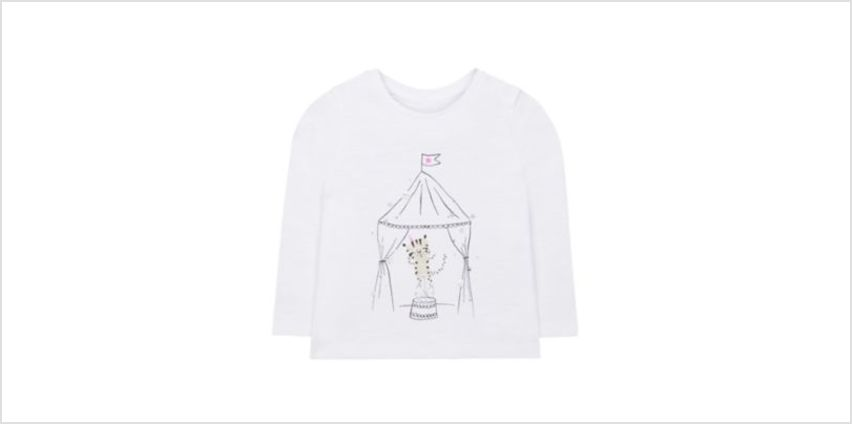 white tiger circus tent t-shirt from Mothercare