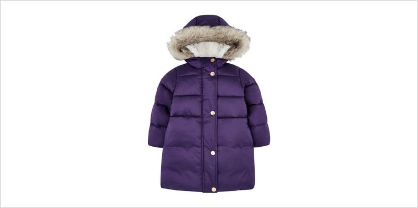 purple padded borg-lined parka from Mothercare