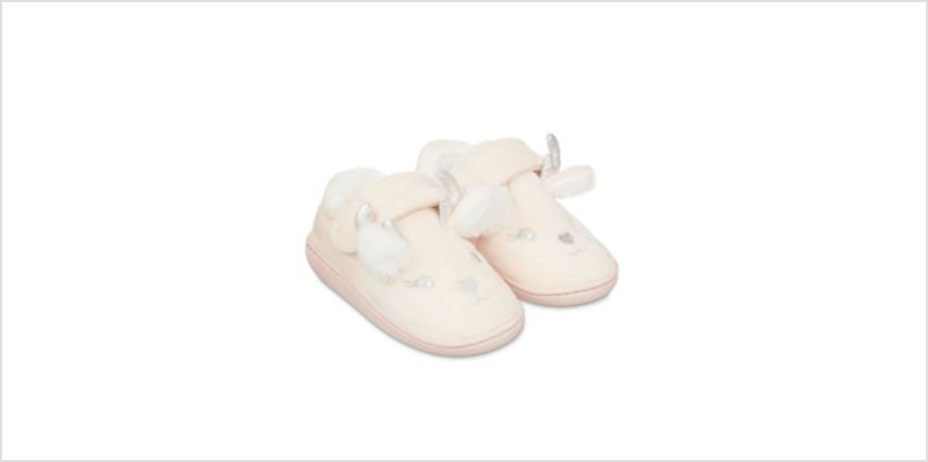 pink deer slippers from Mothercare