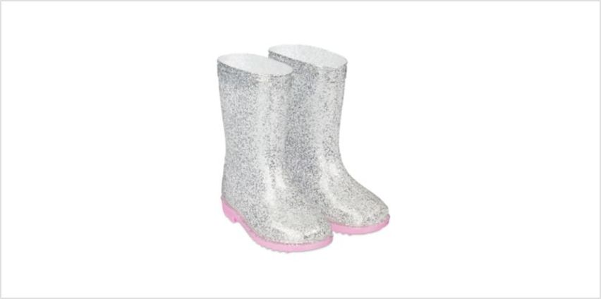 silver glitter wellies from Mothercare