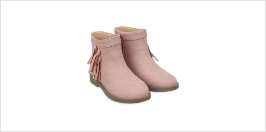 pink tassel boots from Mothercare