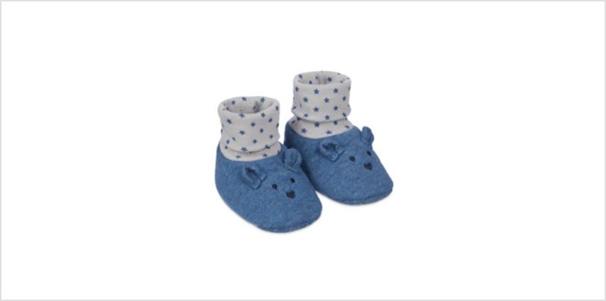 navy bear sock top booties from Mothercare