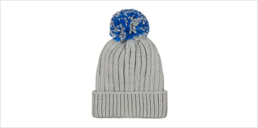 grey beanie hat from Mothercare