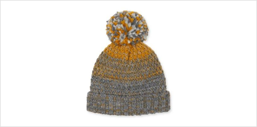 grey and mustard beanie hat from Mothercare
