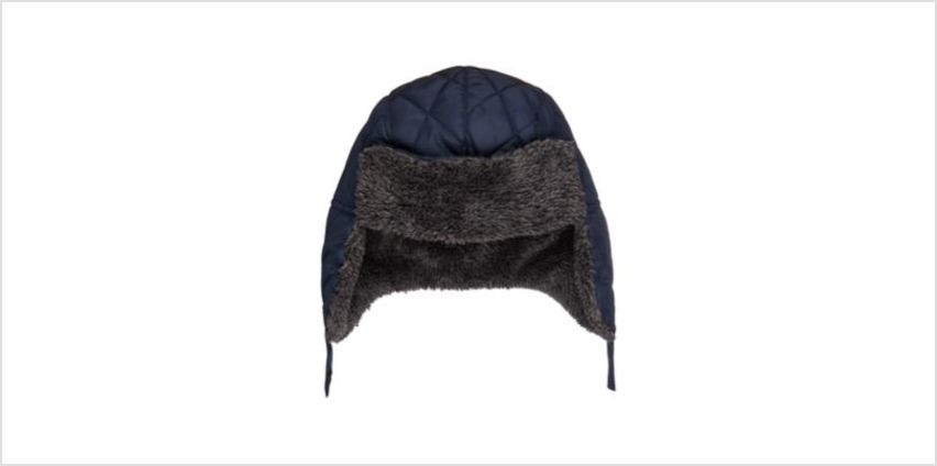 borg lined quilted trapper hat from Mothercare