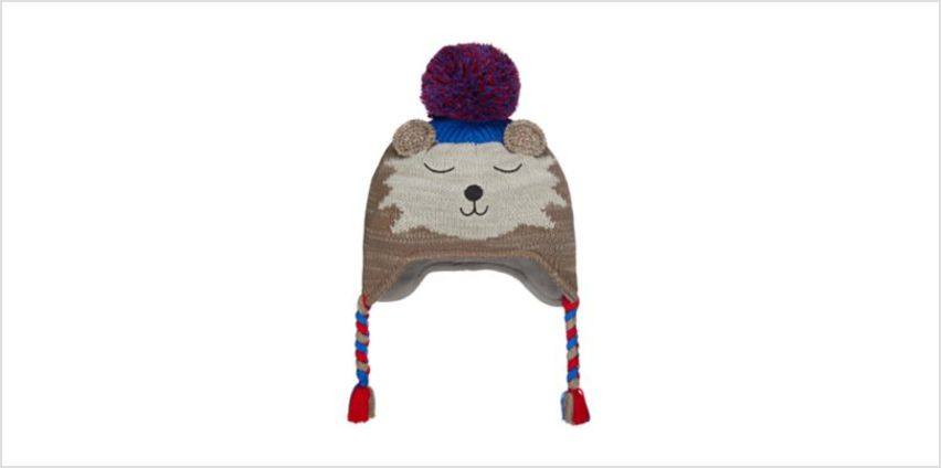 novelty bear trapper hat from Mothercare