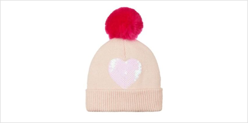 sequin heart beanie hat from Mothercare