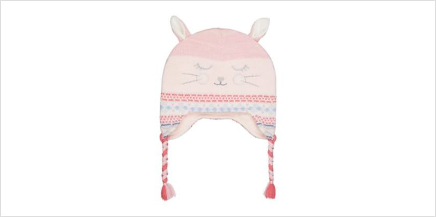 novelty bunny trapper hat from Mothercare
