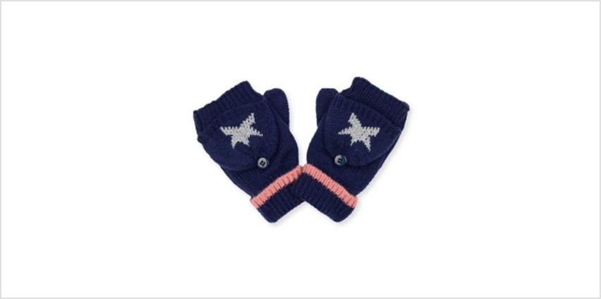 navy silver star converter gloves from Mothercare