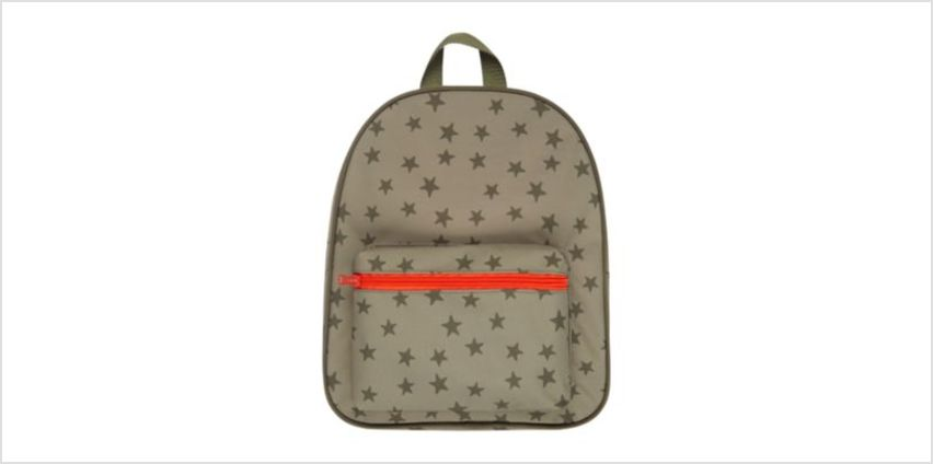 back to nursery khaki star backpack from Mothercare