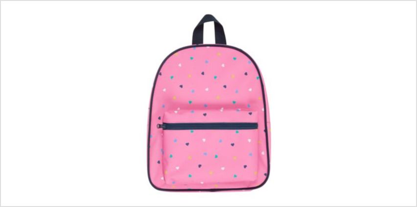 back to nursery pink heart backpack from Mothercare