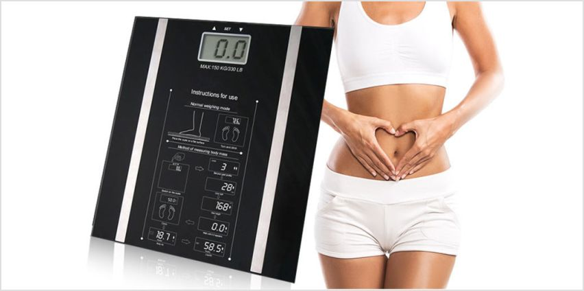 £9.99 instead of £39.99 for a digital bmi weighing scales from Direct2Public Ltd - save 75% from Wowcher