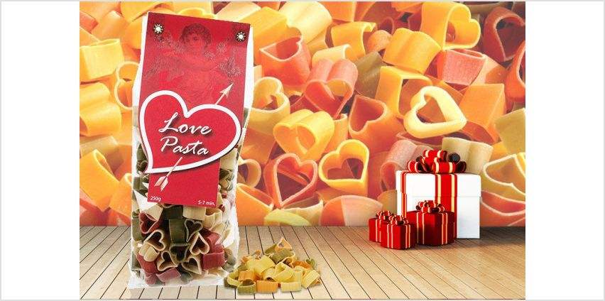 £3.99 instead of £9.99 for heart-shaped pasta from London Exchain Store - save 60% from Wowcher
