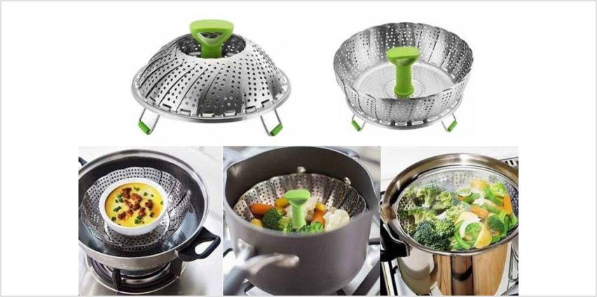 £9.99 instead of £29.99 (from Domo Secret) for a stainless steel collapsible steamer - save 67% from Wowcher