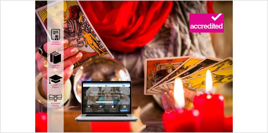 £16 instead of £299 for an online accredited tarot reading course from Harley Oxford - save 95% from Wowcher
