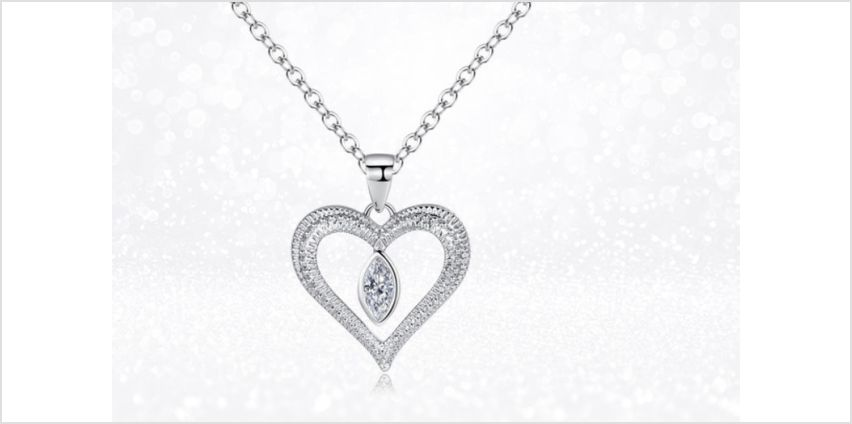 £12 instead of £89.99 (from Gemnations) for a love drop necklace made with Crystals from Swarovski ® - save 87% from Wowcher