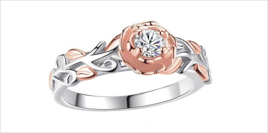 £9.99 instead of £49.99 (from Gemnations) for a rose gold and silver crystal flower ring - save 80% from Wowcher