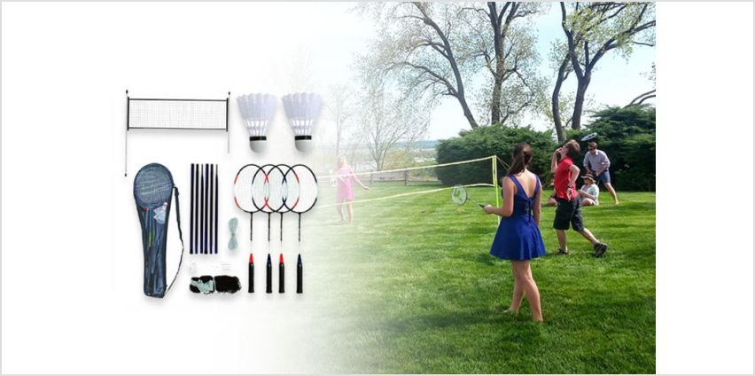 £9.99 instead of £26 (from Eurotrade) for a four-player badminton set - save 62% from Wowcher