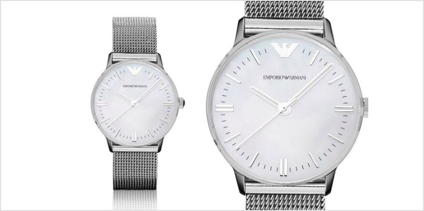 £129 instead of £299 (from Ticara Watches) for a ladies Emporio Armani AR1631 mesh watch - save 57% from Wowcher