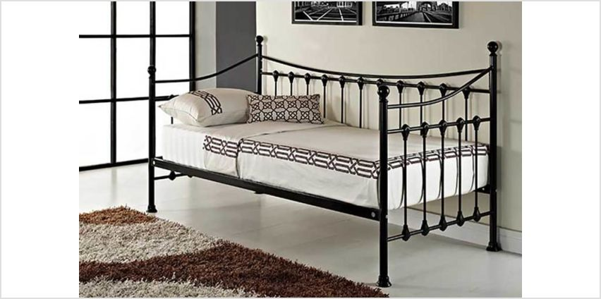 From £79 (from UK Furniture Zone) for a French day bed - choose from various trundle, mattress and colour options and save up to 79% from Wowcher