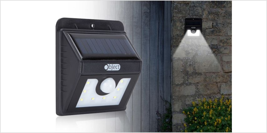 £6.99 instead of £19.99 (from Gift Gadget) for one motion-activated solar security LED light, £10.99 for two or £16.99 for four lights - save up to 65% from Wowcher