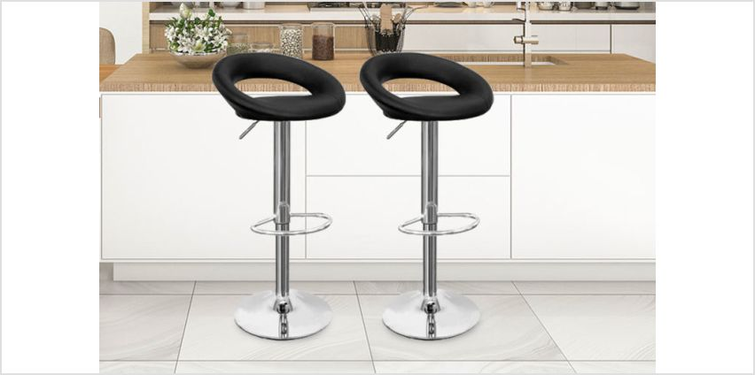 £54.99 instead of £195 (from Home Empire) for a set of two PU leather bar stools - save 72% from Wowcher