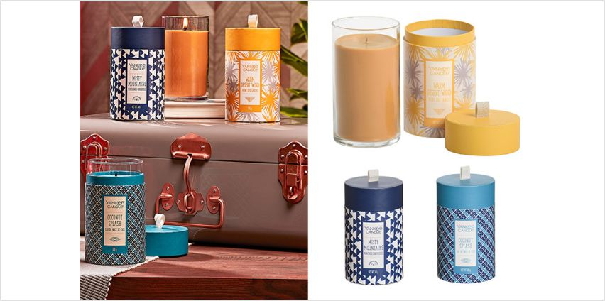 £21.99 instead of £54 for a triple pack of limited edition Yankee Candle wanderlust pillars from Yankee Bundles - save 59% from Wowcher