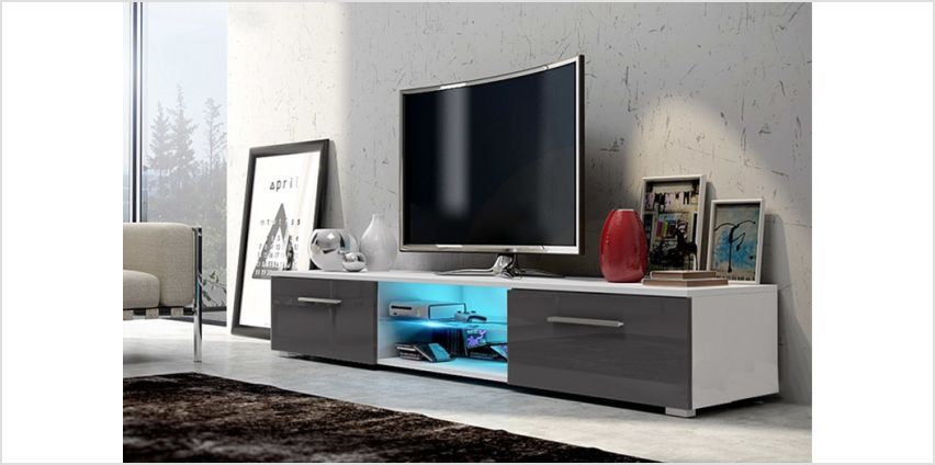 £89 instead of £399 (from Selsey Living) for a contemporary LED TV unit with two storage cupboards - save 78% from Wowcher