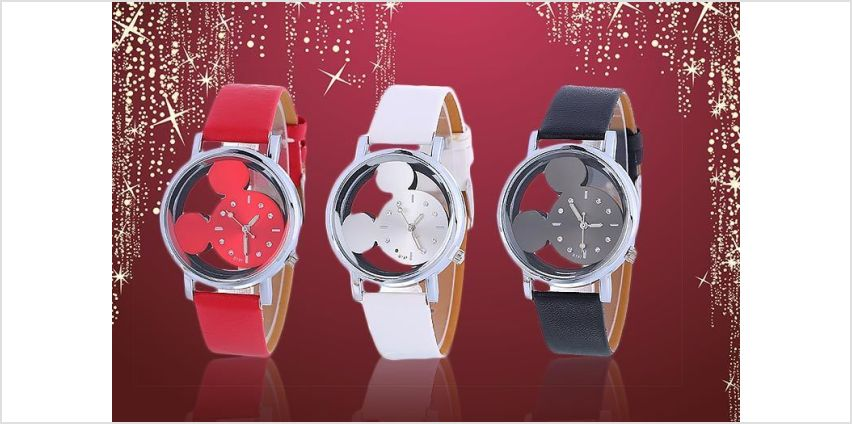 £5.99 instead of £25 for a Disney-inspired mouse watch - choose from three colours from Solo Act Ltd - save 76% from Wowcher