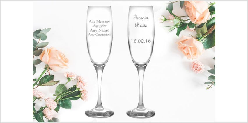 £5.99 instead of £19.99 (from CNC) for a personalised engraved champagne flute - save 70% from Wowcher
