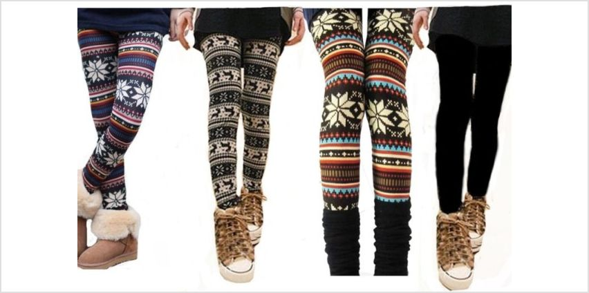 £6 instead of £29 for a pair of nordic leggings - choose from two designs from Boni Caro - save 79% from Wowcher