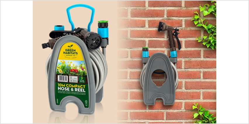 Let's get gardening with the help of this deal for a 10m hosepipe with attachments and wall mount! from Wowcher