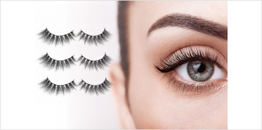 £16 instead of £59.97 (from RLBeautyLondon) for three pairs of premium silk false lashes – save 73% from Wowcher