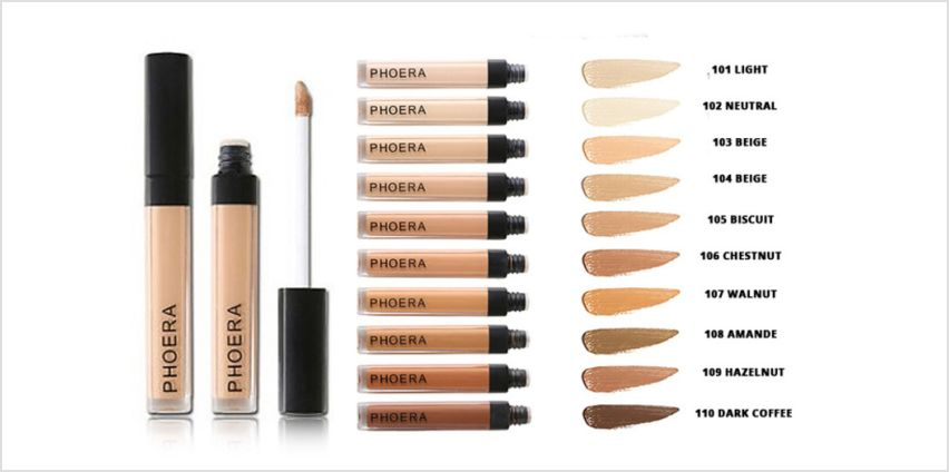 £3.99 instead of £8 (from Forever Cosmetics) for a Phoera cover up concealer –choose from ten shades and save 50% from Wowcher