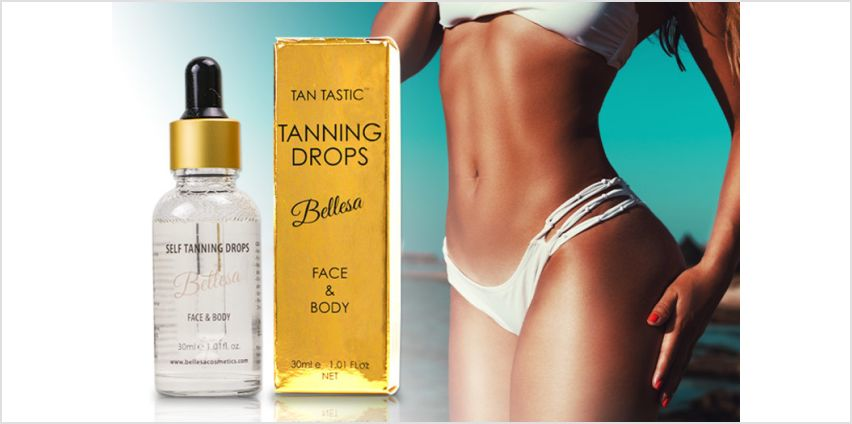 £6.99 instead of £19.95 (from BellesaCosmetics) for a 30ml bottle of self-tanning drops - save 65% from Wowcher