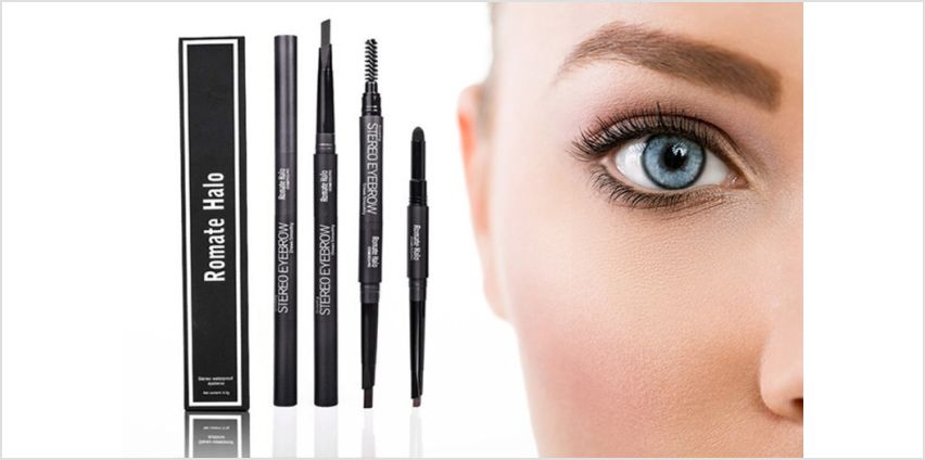£4.99 instead of £19.98 (from Forever Cosmetics) for two Glamza 3-in-1 eyebrow pencils - choose between four colours and save 72% from Wowcher