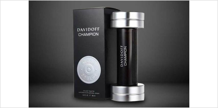 £17.99 instead of £35.95 (from Deals Direct) for a 50ml Davidoff Champion eau de toilette, £21.95 for 90ml –save up to 50% from Wowcher