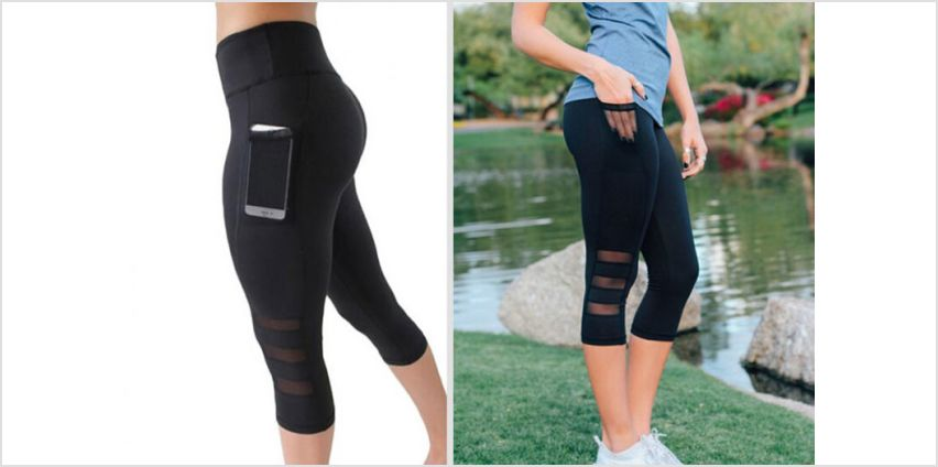 £6.99 instead of £29.99 (from Blu Fish) for a pair of fitness leggings with phone holder – choose from three sizes and save 77% from Wowcher