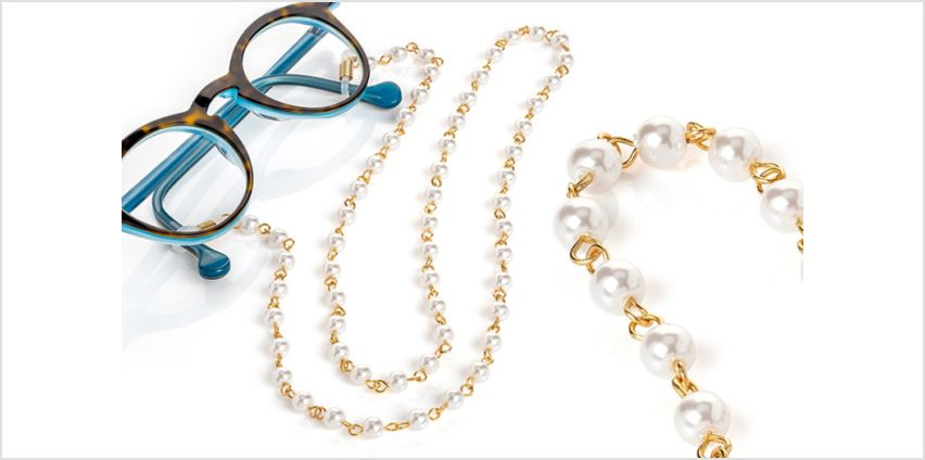 £6.99 instead of £29.99 (from Gemnations) for a gold and white pearl effect glasses strap - save 77% from Wowcher