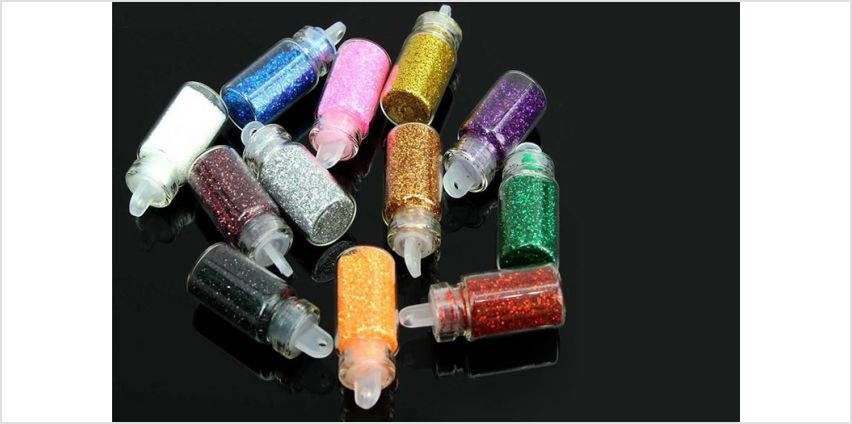 £6 instead of £17.99 for twelve mini glitter bottles from Forever Cosmetics - save up to 67% from Wowcher
