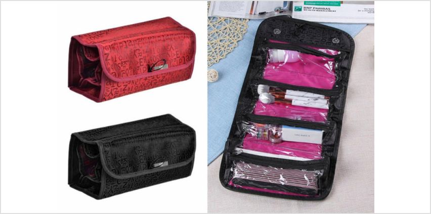 £5.99 instead of £29.99 (from Blu Fish) for a travel cosmetics bag - save 80% from Wowcher