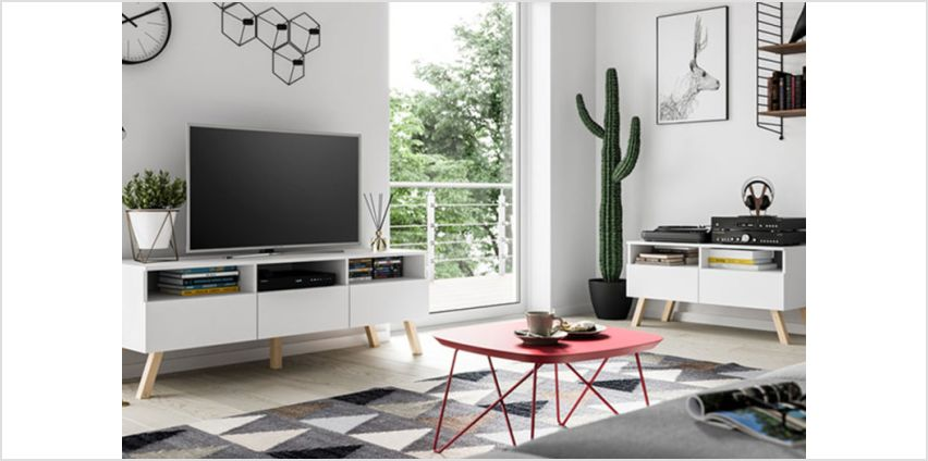 £89 instead of £349 (from Selsey) for a 100cm wooden TV unit, or £119 for a 150cm TV unit - save up to 74% from Wowcher