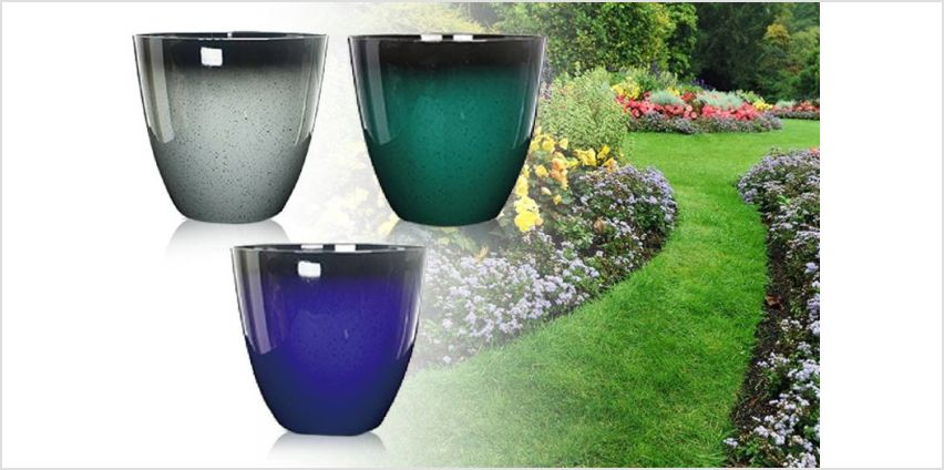 £7.99 instead of £17 (from Eurotrade Ltd) for a 1ft glaze effect planting pot – choose from four colours and save 53% from Wowcher