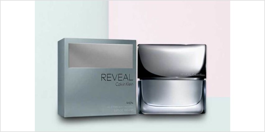 £13.99 instead of £27.95 for a 30ml bottle of CK Reveal EDT for men, £19.99 for a 50ml bottle or £26.99 for a 100ml bottle from Deals Direct - save up to 50% from Wowcher
