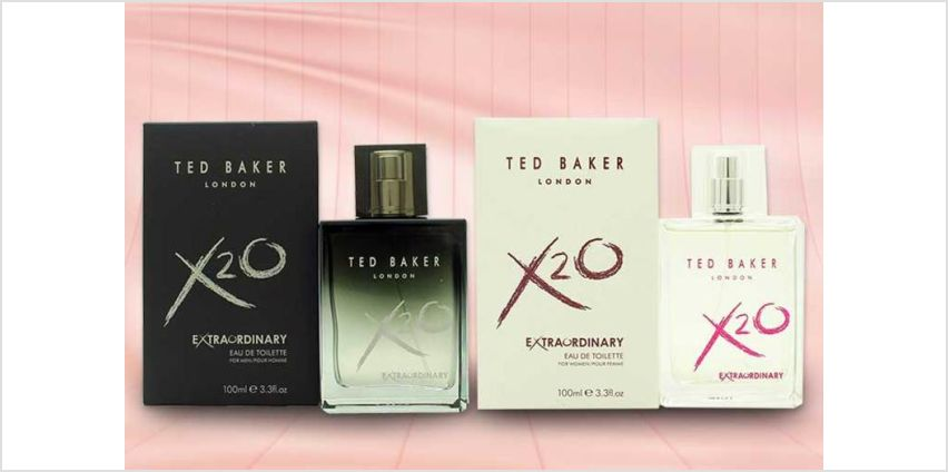 £17.99 instead of £38 (from JYNX Direct) for a 100ml bottle of Ted Baker X2O fragrance - choose from 2 options & save 53% from Wowcher