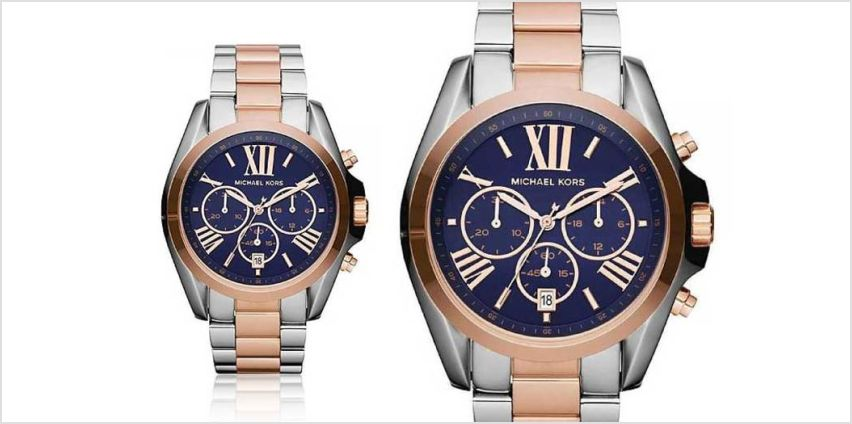 Tick tock, time is running out for you to check out this Ladies' Michael Kors two-tone Bradshaw MK5606 watch deal! from Wowcher