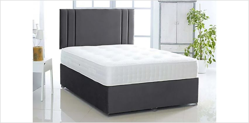 From £99 instead of £469.01 (from Komfet) for a black suede William divan bed - choose from six sizes and four drawer options, and save up to 79% from Wowcher
