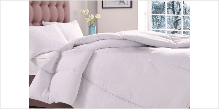 £12 for a single 16.5 tog winter warmer duvet, £16 for a double, £19 for a king or £21 for a superking from Direct Warehouse Ltd - save up to 66% from Wowcher