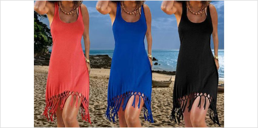 £8.49 instead of £29.99 (from Boni Caro) for a tassel beach dress - save 72% from Wowcher
