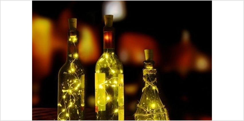 £3.99 instead of £14.99 for a two-piece set of LED wine bottle decorative lights from London Exchain Store - save 73% from Wowcher